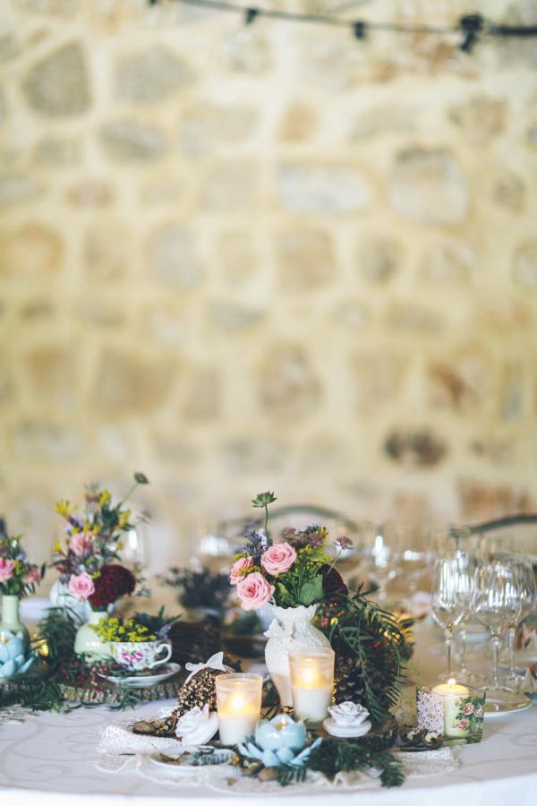 maracatering centro de mesa boda finca monte de cutamilla